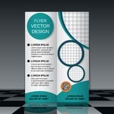 Bi-fold flyer template Royalty Free Stock Photos
