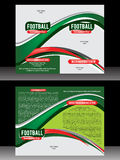 Bi Fold Football Brochure Template Royalty Free Stock Photos
