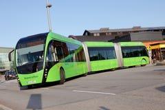 Bi-gearticuleerde bus Stock Foto's