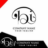 Bi iniziale di progettazione di logo Immagini Stock