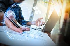 (BI) inteligencja i biznesowe analityka z kluczowym performan (półdupki) zdjęcie stock