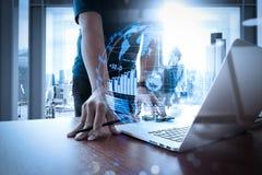 (BI) inteligencja i biznesowe analityka z kluczowym performan (półdupki) zdjęcia stock