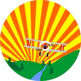 bi latania samolotu niebo royalty ilustracja