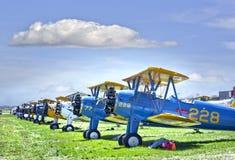 Bi-plane zdjęcie stock