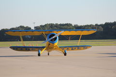 Bi Plane ready for take off Stock Image