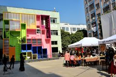2017 bi-Stad Biennale van UrbanismArchitecture Shenzhen Royalty-vrije Stock Foto's