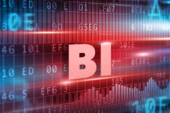 BI technology concept Royalty Free Stock Photography