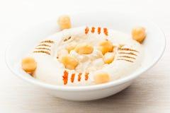 Bi Toum Hummus Labneh stockbilder