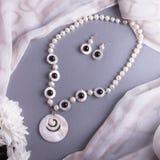 Biżuteria od naturalnych kamieni Zdjęcie Stock