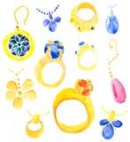 biżuteria set ilustracji