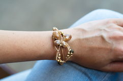 Biżuterii bransoletka Obrazy Royalty Free