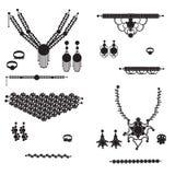 Biżuterii sylwetki Zdjęcie Stock