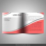 Bi-vouwen vierkante zaken of het onderwijsontwerp van het brochuremalplaatje vector illustratie