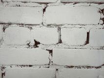 Biała ściana z cegieł jak trend obraz stock
