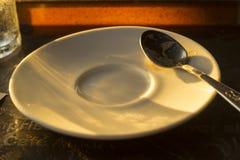 Białej kawy spodeczek zdjęcie royalty free