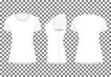 Biały, światło/- szara kobiety koszulka ilustracji