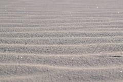 Biały piaska wzór w Nowym - Mexico, usa zdjęcia stock