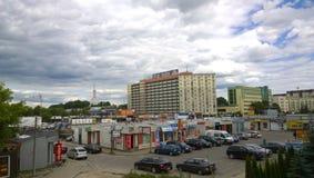 BiaÅ'ystok. View on central Białystok stock image