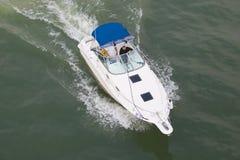 biała łódź fotografia royalty free