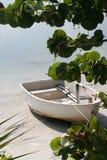 biała łódź zdjęcie stock