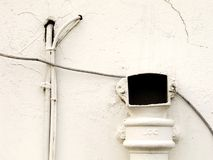 biała ściana Fotografia Stock