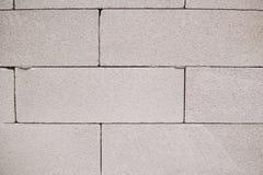 Biała ściana textured żużlu bloku tło Obrazy Royalty Free