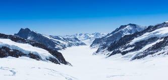 Biała śnieżna góra Obraz Stock