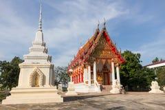 Biała świątynia przy Watem i pagoda Zakazujemy Ma Zdjęcia Stock