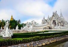 Biała świątynia Wat Rong Khun Zdjęcie Royalty Free