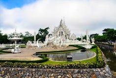 Biała świątynia Wat Rong Khun Obrazy Stock