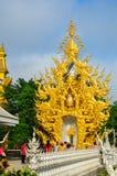 Biała świątynia Wat Rong Khun Fotografia Royalty Free