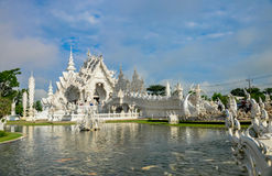 Biała świątynia Wat Rong Khun Zdjęcie Stock