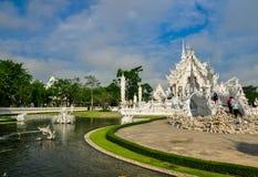 Biała świątynia Wat Rong Khun Obrazy Royalty Free
