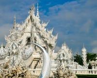 Biała świątynia Wat Rong Khun Fotografia Stock