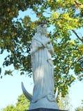Biała święta Maryjna rzeźba, Lithuania zdjęcie stock