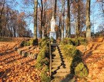 Biała święta Maryjna rzeźba, Lithuania obrazy stock