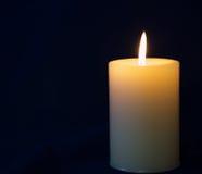 Biała świeczka Zdjęcia Royalty Free