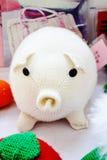 Biała świnia Fotografia Stock