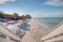 Biała aqua błękitne wody milczek i Przechodzimy w Naples, Flo Obraz Royalty Free