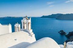 Biała architektura na Santorini wyspie, Grecja Zdjęcie Stock