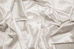 Biała Atłasowa tkanina Fotografia Royalty Free