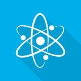Biała atom ikona również zwrócić corel ilustracji wektora Obrazy Stock