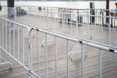 Biała barykada w miasto wizerunku fotografii obrazy royalty free