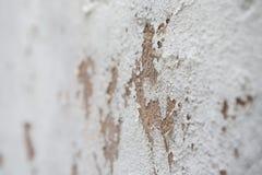 Biała betonowej ściany abrazja zdjęcie stock
