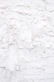 Biała betonowej ściany tekstura z farbą Zdjęcia Stock