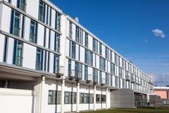 Biała budynek fasada Zdjęcia Royalty Free