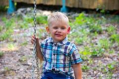 Biała chłopiec Obrazy Royalty Free
