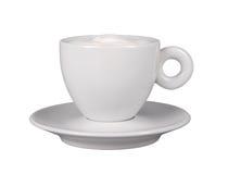 Biała coffe filiżanka Filiżanka coffe filiżanka występować samodzielnie Fotografia Royalty Free