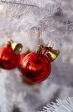Biała czerwieni piłka i drzewo Obrazy Stock