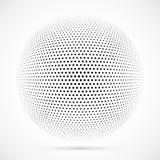 Biała 3D halftone wektorowa sfera Kropkowany bańczasty tło logo Zdjęcia Royalty Free